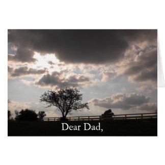 Cartão memorável da lembrança do dia dos pais