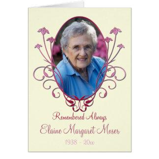 Cartão memorável do marfim e da Borgonha com foto