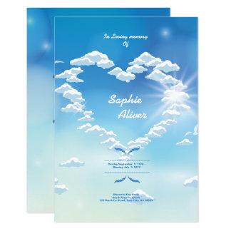 Cartão memorável fúnebre da oração