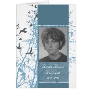cartão memorável silhouscreen pássaros