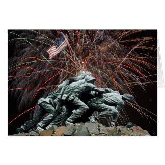 Cartão Memorial de guerra do Corp marinho com