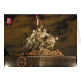 Cartão Memorial de guerra do USMC