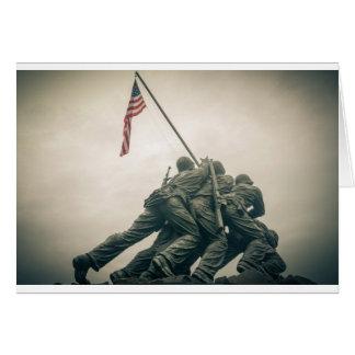 Cartão Memorial de Iwo Jima no Washington DC