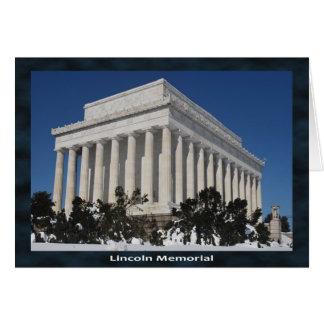 Cartão Memorial de Lincoln