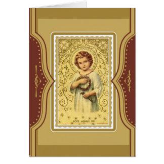 Cartão Memorial de oferecimento da massa de Jesus da