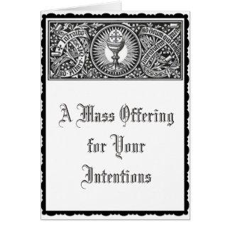 Cartão Memorial de oferecimento maciço católico