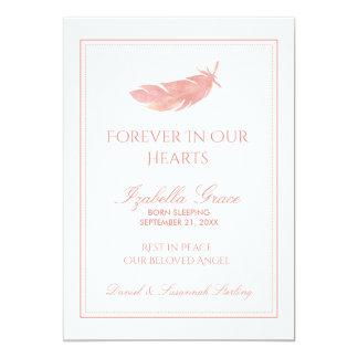 Cartão Memorial do bebê para sempre em nossa pena