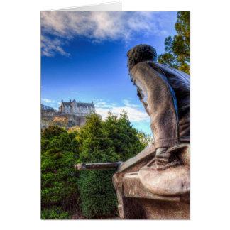 Cartão Memorial e castelo americanos escoceses de