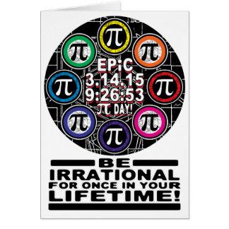 Cartão Memorial final para símbolos épicos do dia do Pi