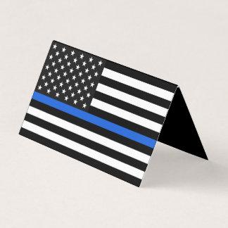Cartão Memorial fino da bandeira americana de Blue Line