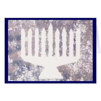 Cartão Memórias Menorah de Hanukah