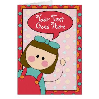 Cartão menina