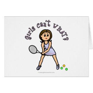 Cartão Menina clara do jogador de ténis