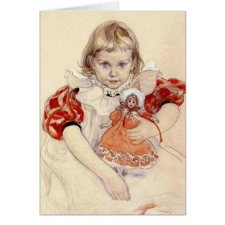 Cartão Menina com boneca 1897