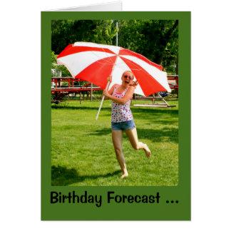 Cartão Menina com possibilidade do guarda-chuva 100% do