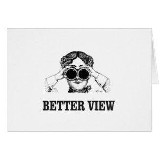 Cartão menina com uma vista melhor