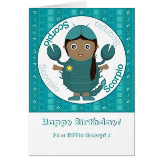 Cartão Menina da Escorpião - feliz aniversario
