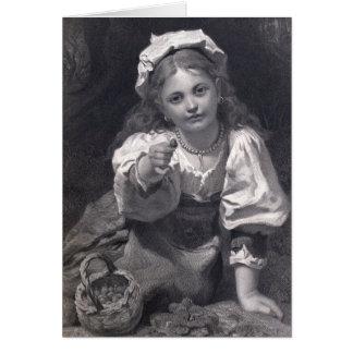Cartão Menina da morango