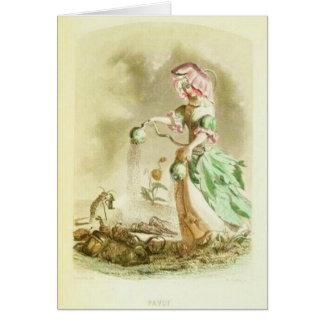Cartão Menina da papoila