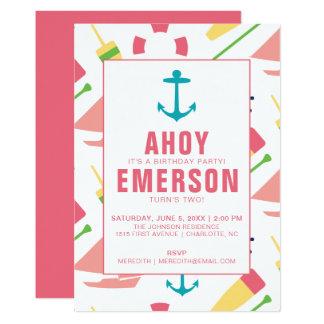 Cartão Menina de festa de aniversário formal das crianças