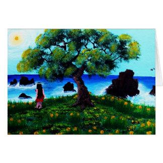 Cartão Menina de Gold Coast