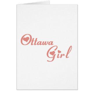 Cartão Menina de Ottawa