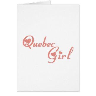 Cartão Menina de Quebeque