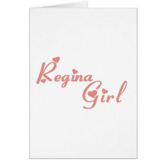 Cartão Menina de Regina