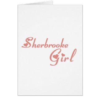 Cartão Menina de Sherbrooke