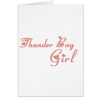 Cartão Menina de Thunder Bay