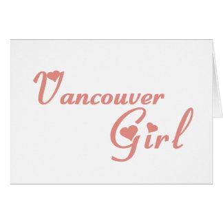Cartão Menina de Vancôver