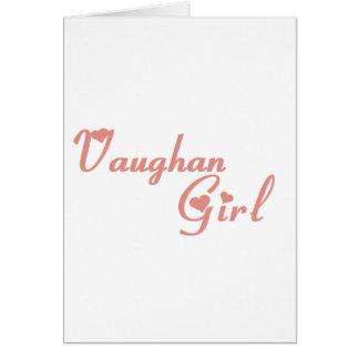 Cartão Menina de Vaughan