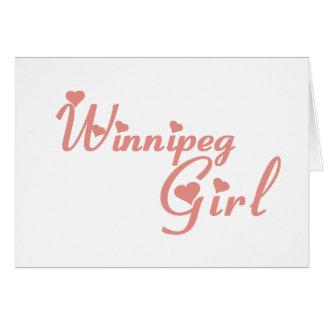 Cartão Menina de Winnipeg