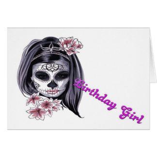Cartão Menina do aniversário