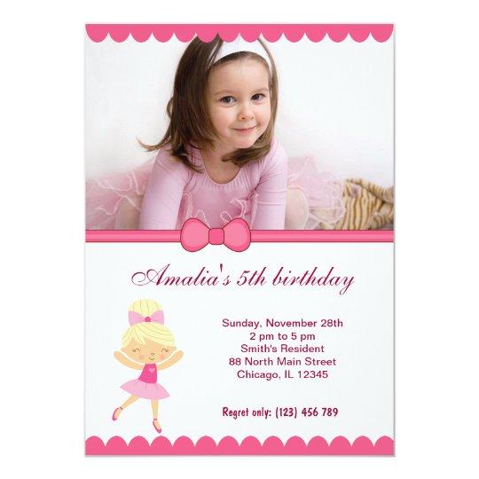 Cartão Menina do aniversário da bailarina