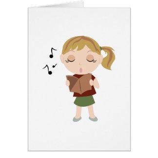 Cartão Menina do coro