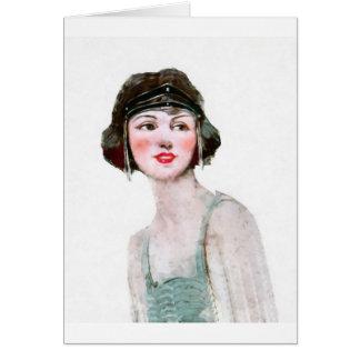 Cartão Menina do Flapper