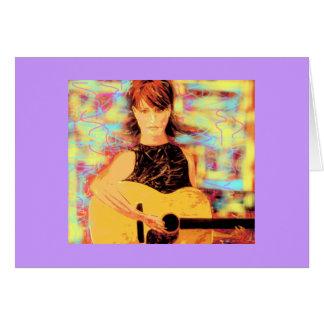 Cartão menina do folksinger