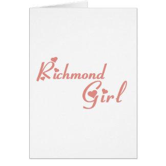 Cartão Menina do monte de Richmond
