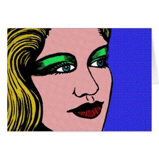 Cartão Menina do pop