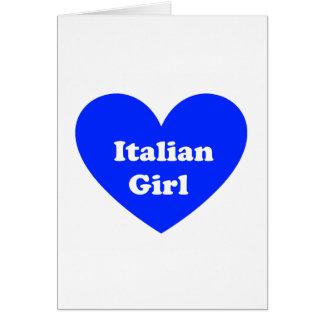 Cartão Menina italiana