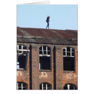 Cartão Menina no telhado 02.2.2, lugares perdidos