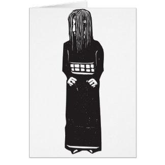 Cartão Menina tímida