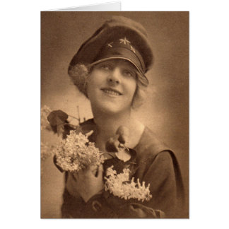 Cartão Menina WW1