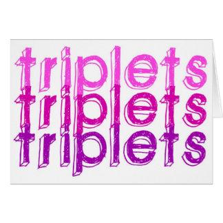 Cartão Meninas da objectiva tripla