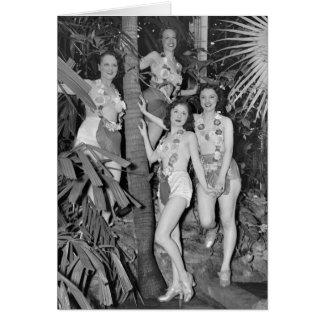 Cartão Meninas de Califórnia, os anos 30