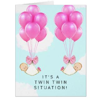Cartão Meninas gêmeas
