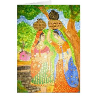 Cartão Meninas indianas