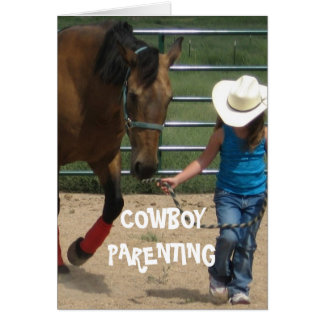 Cartão Meninas & liderança - parentalidade do vaqueiro