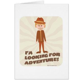 Cartão Menino da aventura do explorador da selva
